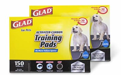 Glad for Pets Black Charcoal Puppy Pads, 150 Count – 2 Pack | Puppy Potty Training Pads That Absorb & NEUTRALIZE Urine Instantly | New & Improved Quality Puppy Pee Pads
