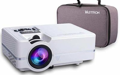 """Vasttron Home Video Projector with Carrying Case, 3200 Lux LED Mini Projector with 170"""" and 1080P Support, Compatible with PS4, TV Sticks, PCs & Smartphones for Movie Theater and Gift"""