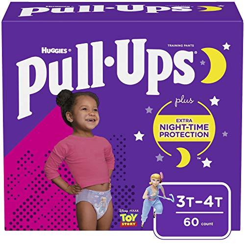 Pull-Ups Night-Time Girls' Training Pants, 3T-4T, 60 Ct