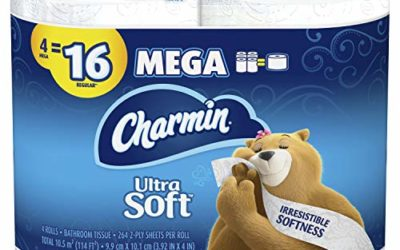 Charmin Ultra Soft Toilet Paper, 18 Count of 284 Sheets Per Roll