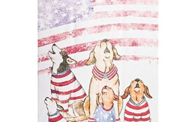 C&F Home Howlers for Freedom Pet Dog Kitchen Patriotic Red White Blue American 4th of July Memorial Labor Day Towel Kitchen Towel White