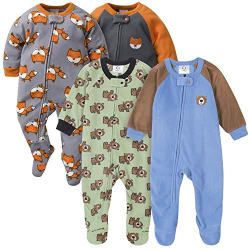 Gerber Baby Boys' 4-Pack Blanket Sleeper, Fox Bear, 18 Months