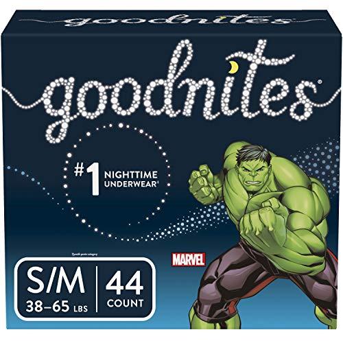 Goodnites Bedwetting Underwear for Boys, S/M, 44 Ct, Discreet