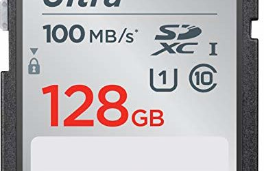 SanDisk 128GB Ultra SDXC UHS-I Memory Card – 100MB/s, C10, U1, Full HD, SD Card – SDSDUNR-128G-GN6IN