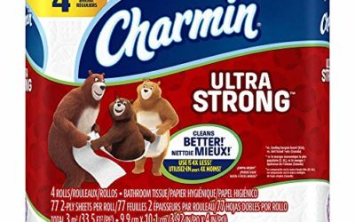 Charmin 94141CT Ultra Strong Bathroom Tissue, 2-Ply, 4×3.92, 77 Per Roll, 4 Rolls Per Pack