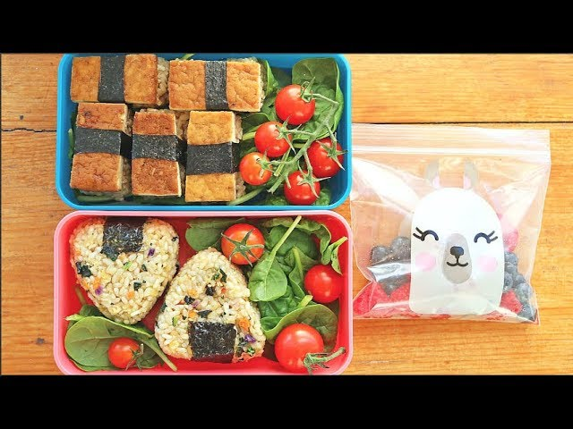"""BACK TO SCHOOL"" BENTO-STYLE LUNCH RECIPES!! 🍙🍱 (VEGAN)"