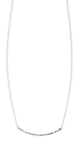 gorjana Women's Taner Hammered Horizontal Bar Small Necklace, Silver Plated