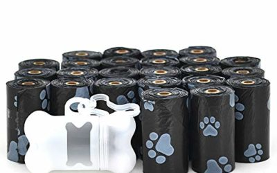 Best Pet Supplies Dog Poop Bags for Waste Refuse Cleanup, Doggy Roll Replacements for Outdoor Puppy Walking and Travel, Leak Proof and Tear Resistant, Thick Plastic – Black, 360 Bags (BK-360C)