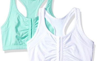 Fruit of the Loom Women's 2 Pk Front Close Racerback, Mint CHIP/White 86CK, 34
