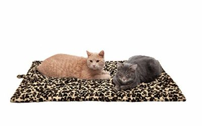 Furhaven Pet Dog Bed Heating Pad – ThermaNAP Quilted Faux Fur Insulated Thermal Self-Warming Pet Bed Pad for Dogs and Cats, Leopard Print, Large