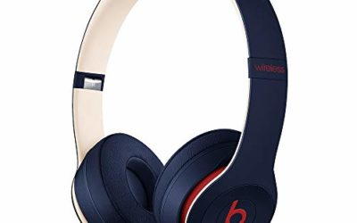 Beats Solo3 Wireless On-Ear Headphones – Apple W1 Headphone Chip, Class 1 Bluetooth, 40 Hours Of Listening Time – Club Navy (Latest Model)