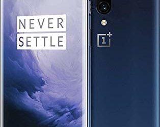 OnePlus 7 Pro GM1925, 8GB RAM + 256GB Memory, Sprint + GSM LTE Unlocked – Nebula Blue.