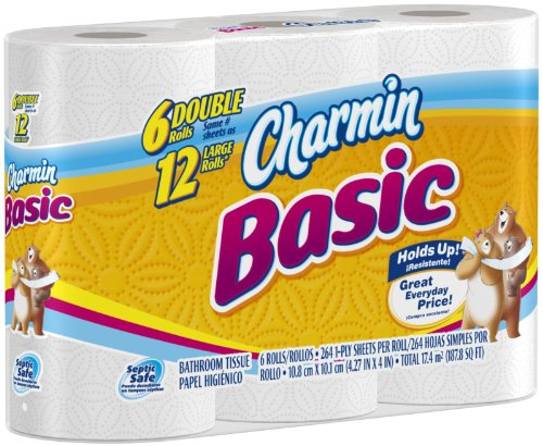 Charmin Basic Double Roll Bathroom Tissue
