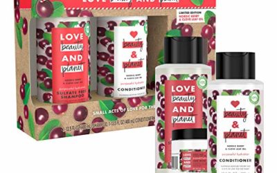 Love Beauty And Planet Nordic Berry & Cove Leaf Holidays Gift Set, Vegan, Paraben-free, Silicone-free, Cruelty-free, 3 Count