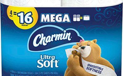 Charmin Ultra Soft Bathroom Tissue, White 4 per Pack