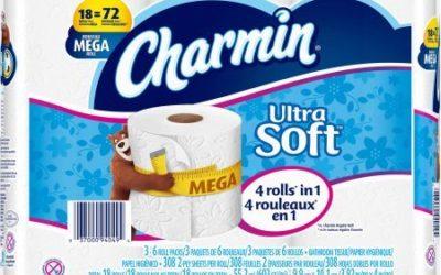 Charmin Ultra Soft Toilet Paper Mega Rolls, 308 sheets, 18 rolls