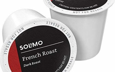 Amazon Brand – 100 Ct. Solimo Dark Roast Coffee Pods, French Roast, Compatible with Keurig 2.0 K-Cup Brewers