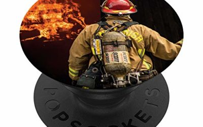 American Firefighter Firefighting Day Labor Fireman gifts PopSockets PopGrip: Swappable Grip for Phones & Tablets