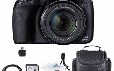 Canon PowerShot SX530 HS Wi-Fi Digital Camera with 32GB Card + Case + HDMI+USB+Kit