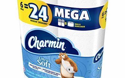Charmin Ultra Soft, Toilet Paper Mega Rolls, 6 Count