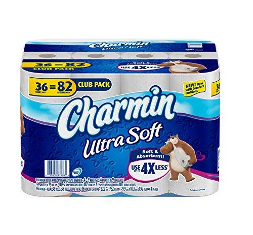 Charmin Ultra Soft 36 Family Rolls, 82 Regular Rolls