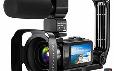 """Video Camera Camcorder, 2.7K Ultra HD YouTube Vlogging Camera, 36MP IR Night Vision Digital, 3.0"""" IPS Touch Screen,16X Digital Zoom Video Camcorder with Microphone Handheld Stabilizer Remote Control"""