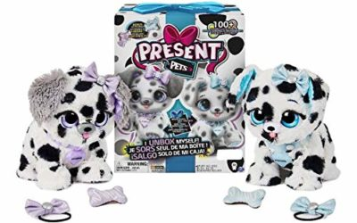 Present Pets Dog Diamond Or Sparkle Dalmatian Interactive Plush Pet Toy with 2 Bonus Accessories and Over 100 Sounds and Actions