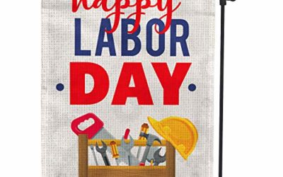 Hollyhorse Happy Labor Day Garden & Yard Flag – 12.5 x18 Inch Double Sided Vertical Outdoor Flag   Labor Day Decoration