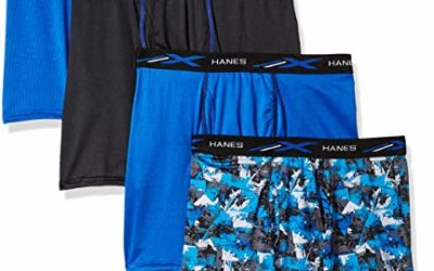 Hanes Men's X-Temp 4-Way Performance Stretch Mesh Boxer Brief, Assorted Colors-4, Large