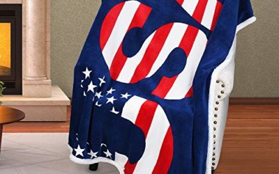 Patriotic US Flag Blanket,American National Flag Throws,Sherpa Fleece Plush Super Soft Cozy Warm Reversible Blanket for Couch Bed,4th of July Citizenship Veteran Labor Day Gift,50X60 inches