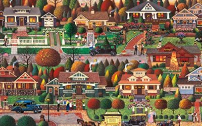 Buffalo Games – Charles Wysocki – Labor Day in Bungalowville – 300 Large Piece Jigsaw Puzzle