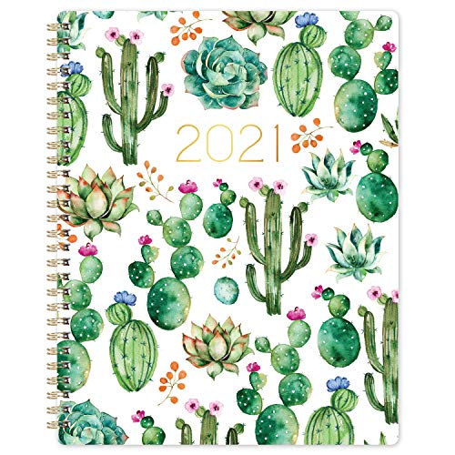 "Planner 2021 – Weekly Monthly Planner with Flexible Cover, 8"" x 10"", Jan 2021 – Dec 2021, Check Boxes as to-do List, Monthly Printed Tabs, Perfect for Home, Office Using"